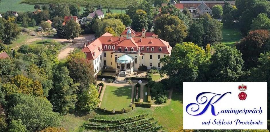 Kamingespräche auf Schloss Proschwitz